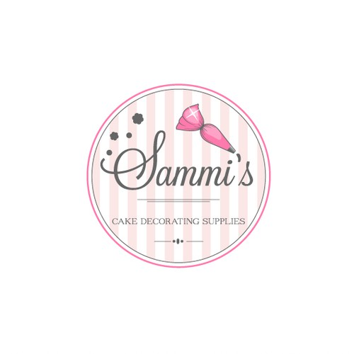 Logo design for a vintage cake decorating supplies store