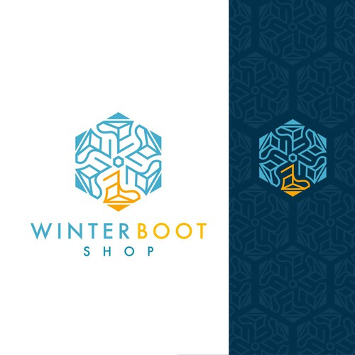Sleek logo for Winter boot shop