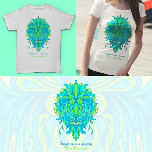 t-shirt design for yoga/meditation company