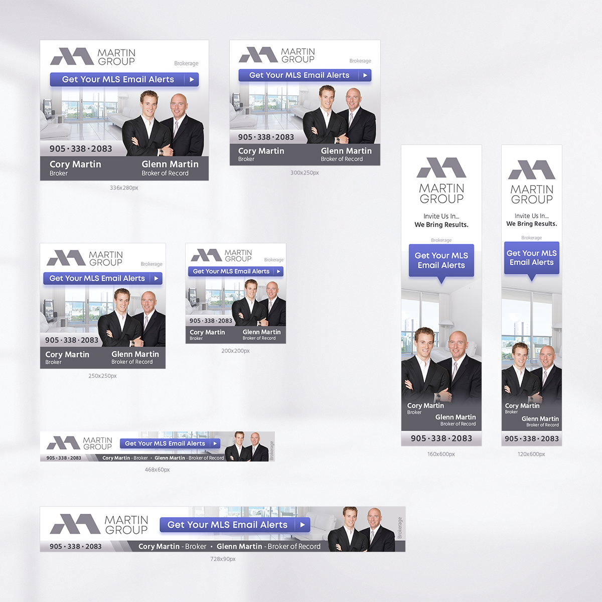 Revised Signs and Cards for new agents, a folder design and google remarketing ads.