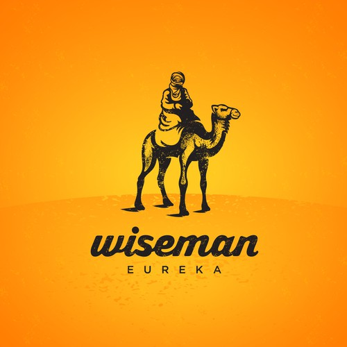 Rustic logo for Wiseman