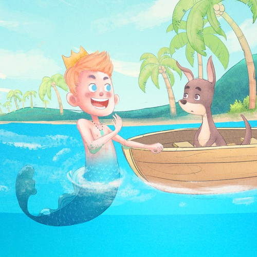 Mer-boy and Wallaby