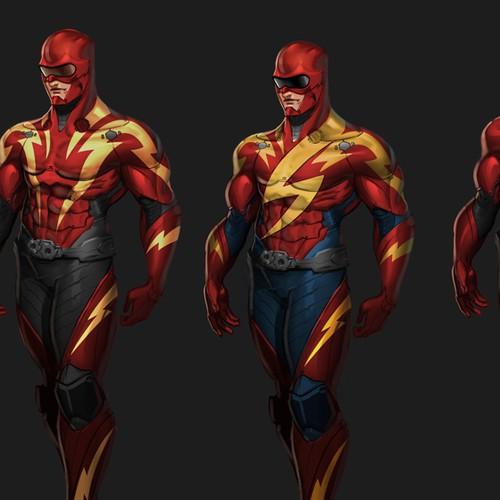 Modern Illustration of Revamped Superhero