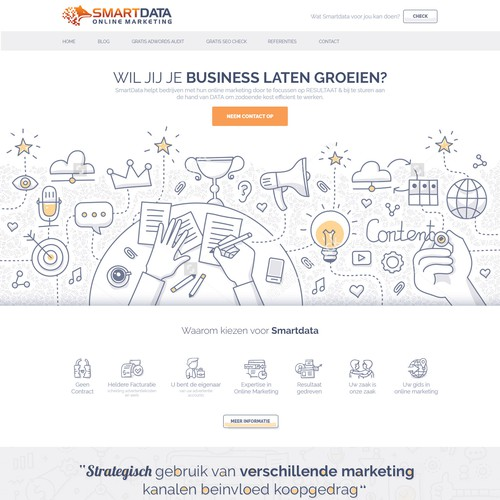 Website Design for Online Marketing Agency