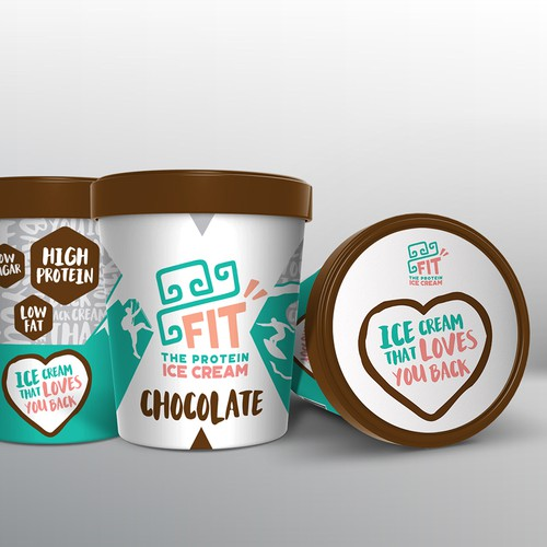 Packaging design for a healthy ice cream