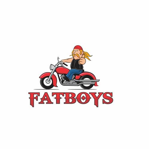 Cartoon Style Fatboys Logo