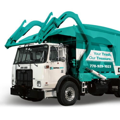 Disposal Queen Truck Wrapping
