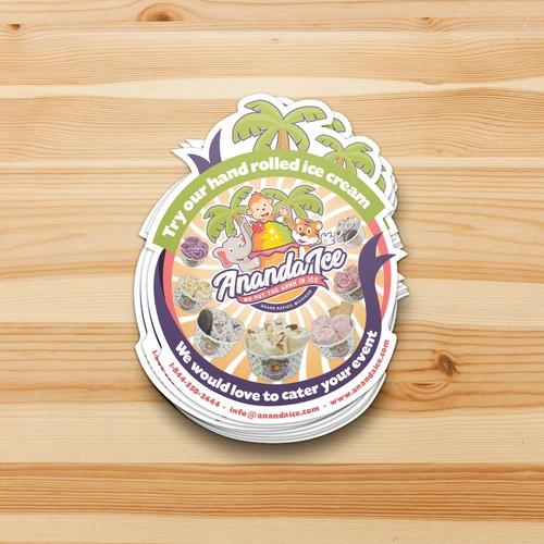 Ice cream freezer rental sticker