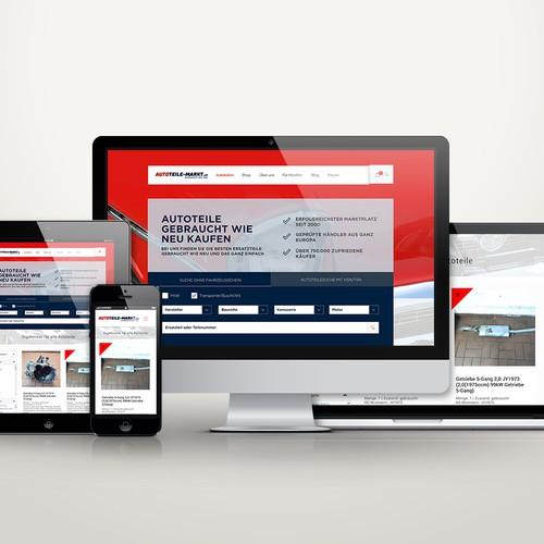 Responsive website for Online Spare Car shop