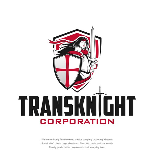 Strong logo  concept for Tranksknight corporation