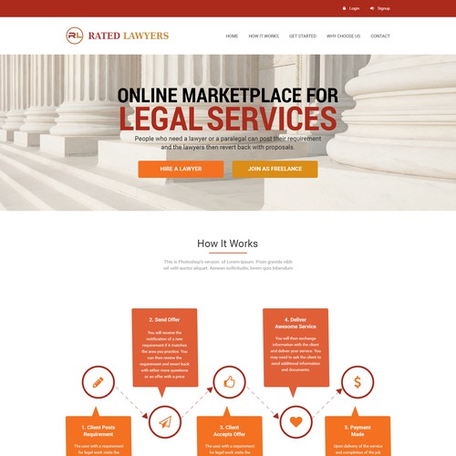 Web Design for Lawyers Marketplace