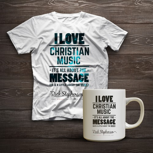 Merchandise Design for Gospel Musicans