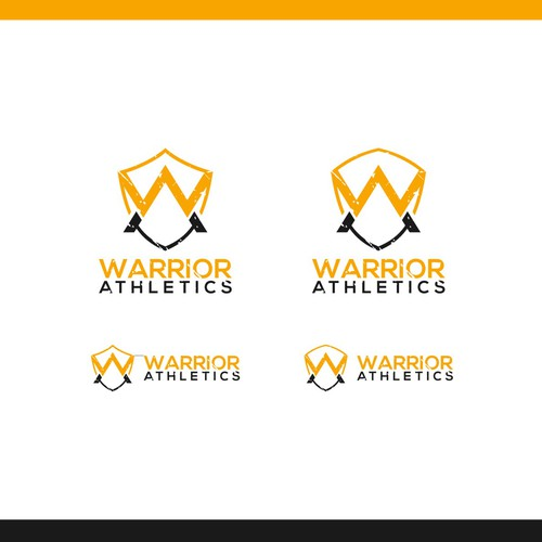 w and a letters concept for warrior athletics logo