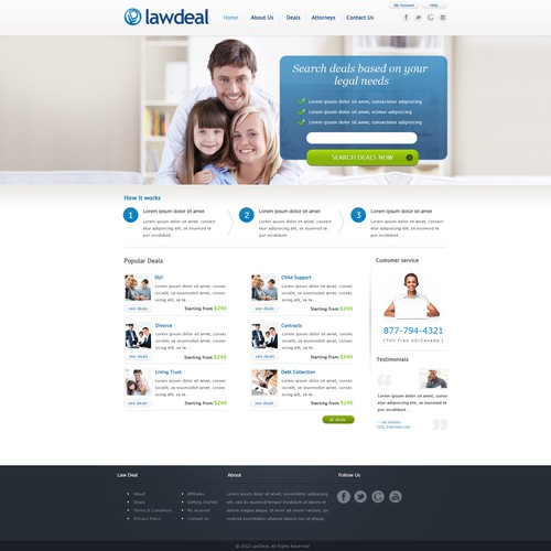 New website design wanted for LawDeal