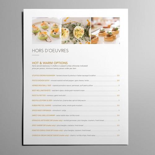 Elegant Restaurant Menu in MS Word
