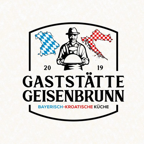 A great logo for a bavarian-croatian restaurant that combines both cultures