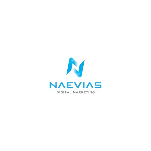 Abstract N logo for digital marketing agency