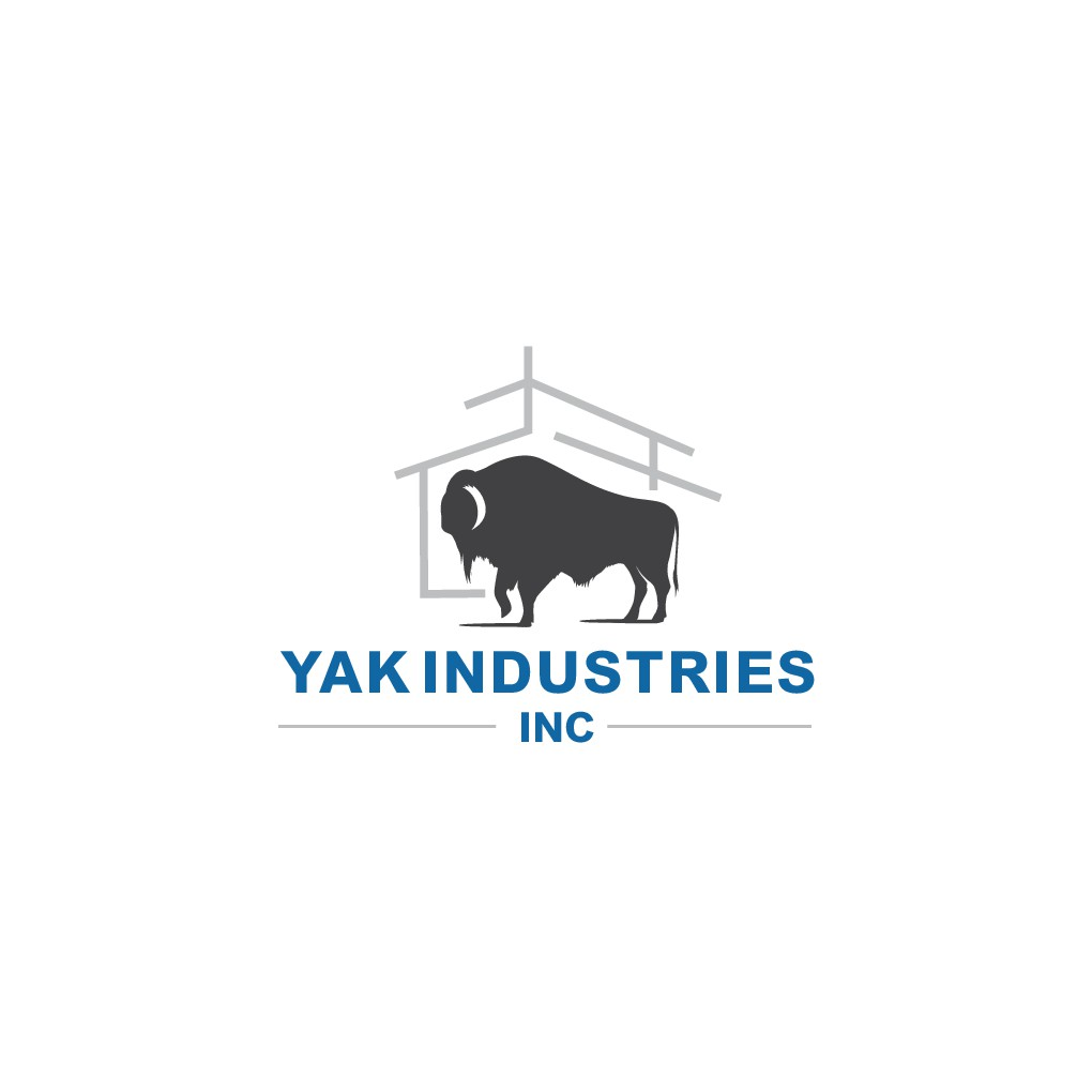 Design a simple classic logo with a Yak for Yak Industries