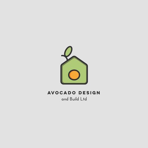 """Logo concept for """"Avocado Design and Build Ltd""""."""