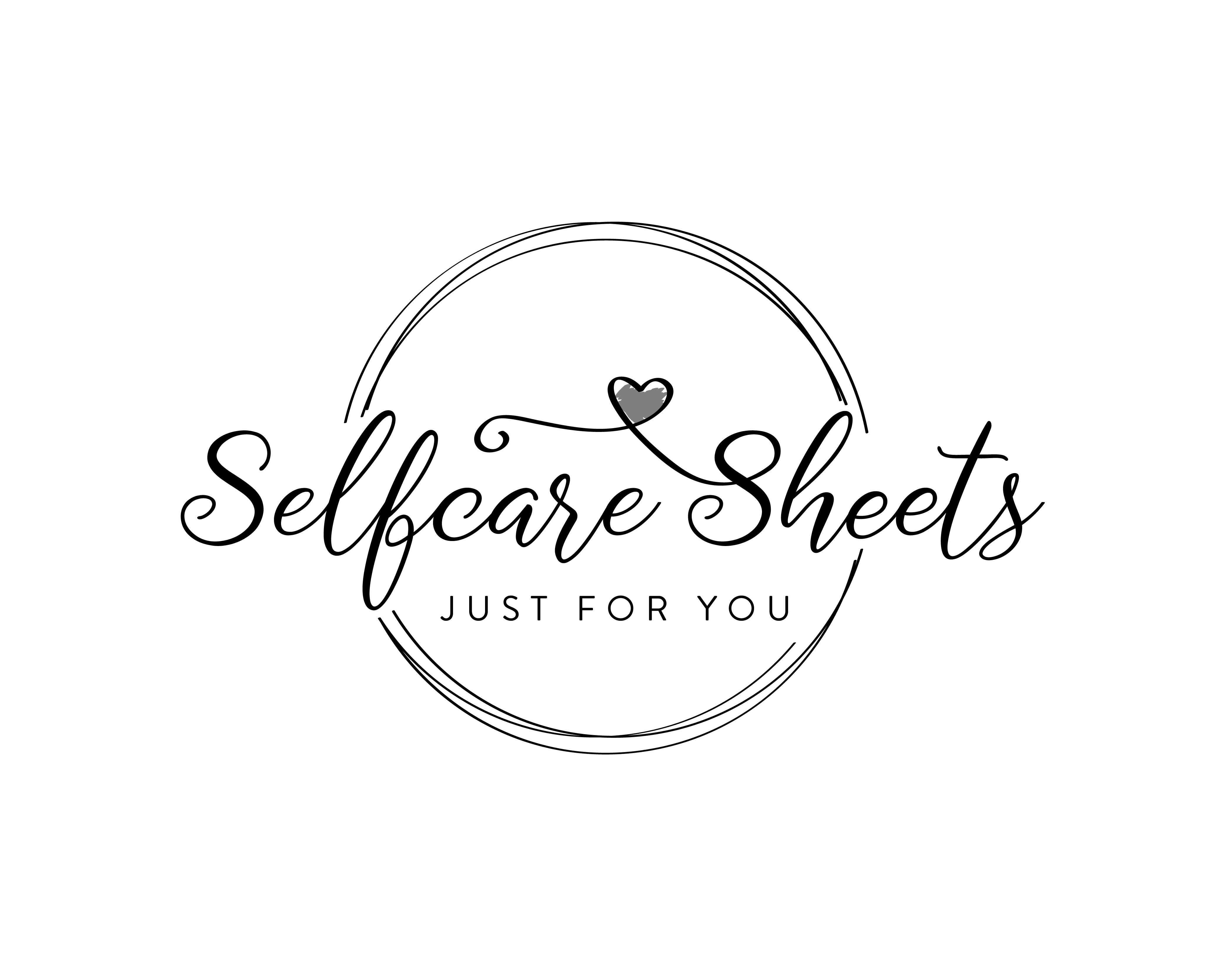 logo for selfcare sheets - love and care for yourself
