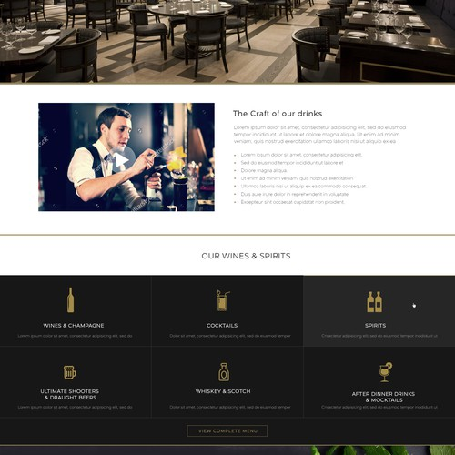 mahec restaurant webdesign