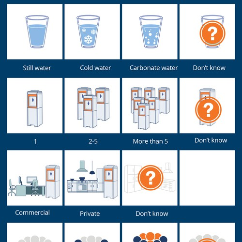 Water Cooler Configurator Icons