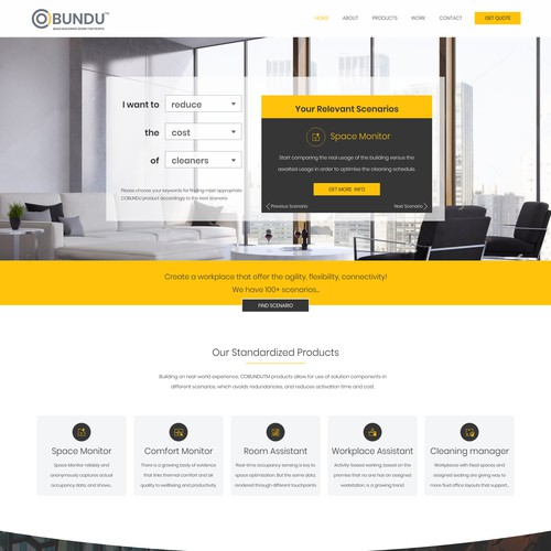 Website design for a technology and consulting firm