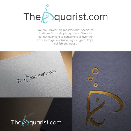 Simple and Meaningful logo design for TheAquarist.com