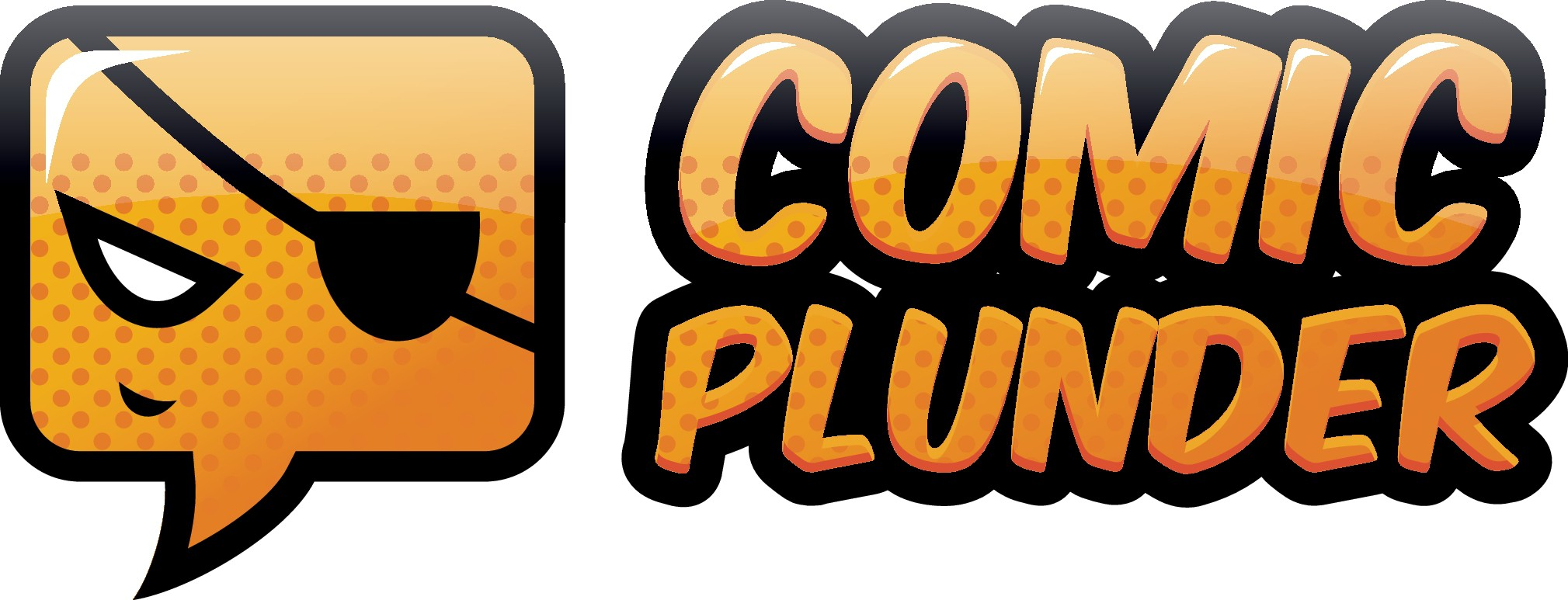 Create a logo that captures the essence of Comic Plunder