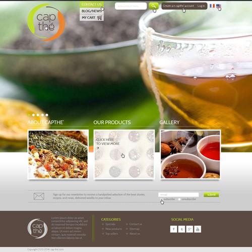 website design for cap thé