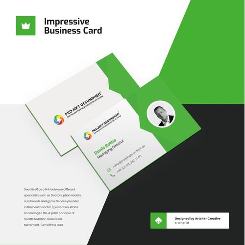 Impressive Simple Business Card Design