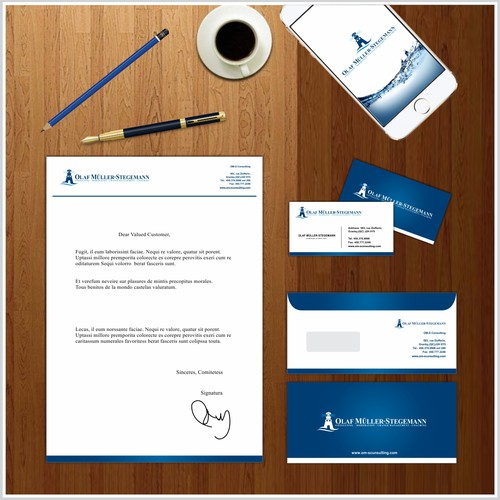 Logo stationery presentation