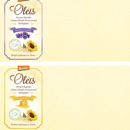 Créer un logo+ etiquette pour un savon liquide