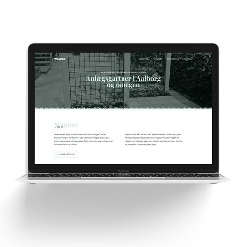 Webdesign for landscape gardener