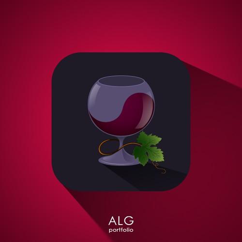 Wine app icon design