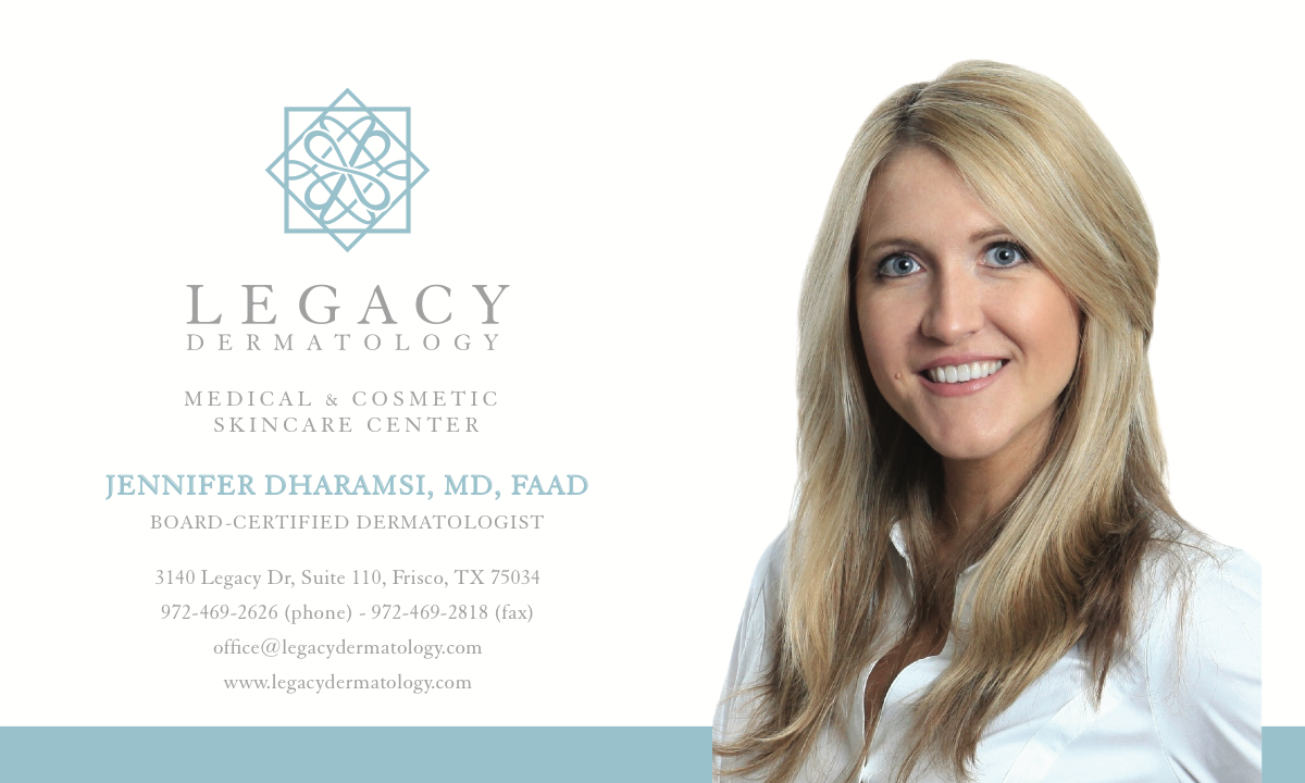 Make business card to include prior Legacy Dermatology logo