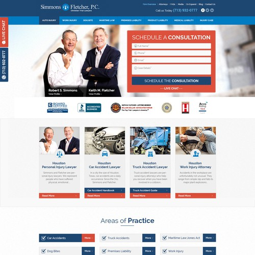 Simmons & Fletcher Attorney  Website
