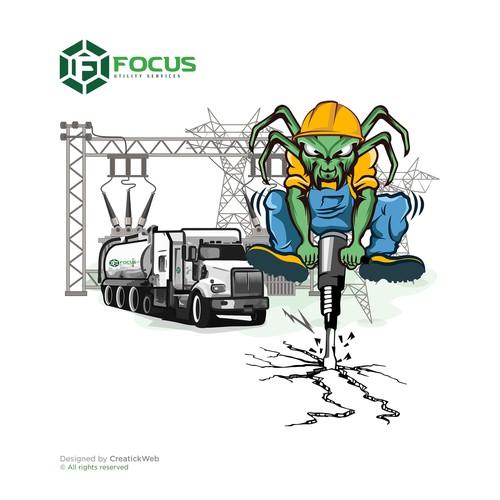 Illustration Focus Utility Services