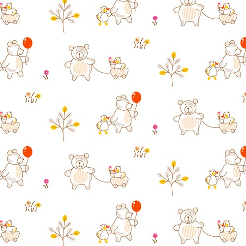 Bear and duck pattern