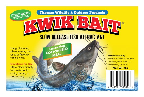 Create a winning design label for the next major fish attractant/outdoor product to hit stores.