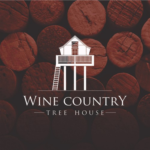 Luxury logo design for a Healdsburg Wine Country rental