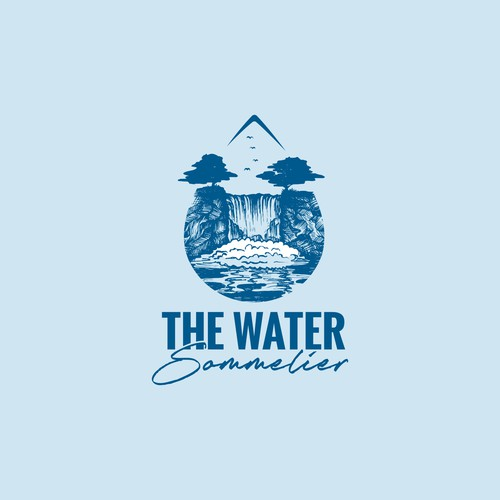 Logo for fine water distributor.