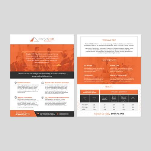 Flyer design for Practice CFO