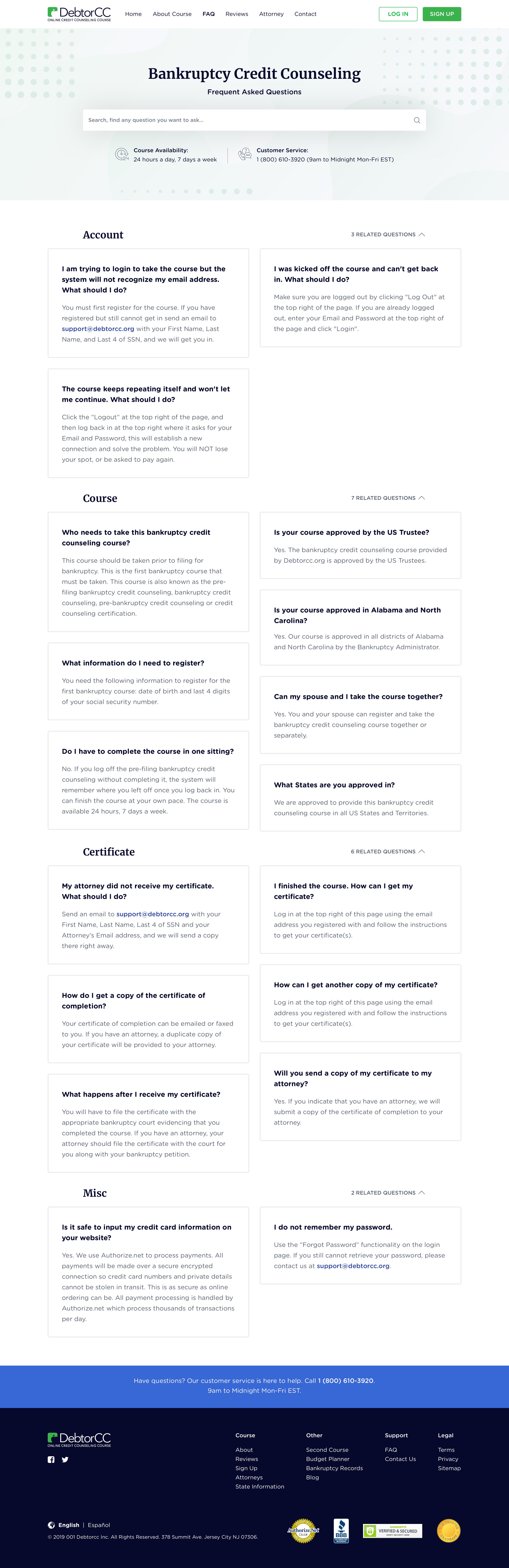 DebtorCC Website Redesign