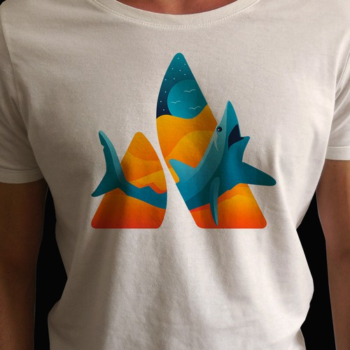 Design a shark-tastic t-shirt for a tech company!
