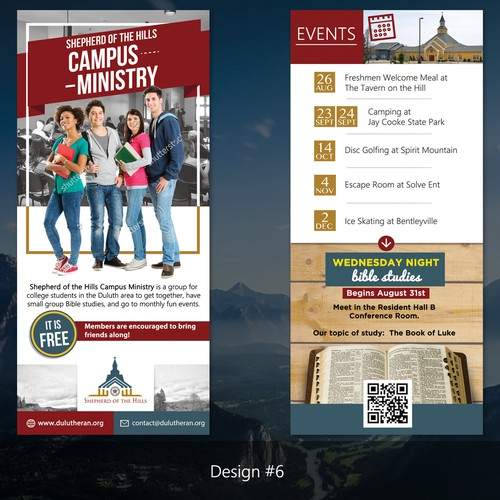 Two sided Flyer for Shepherd of the Hills Lutheran Church