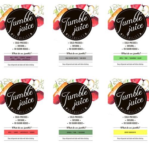 Jumble Juice Label Design