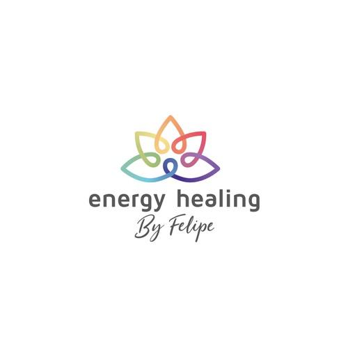 Awesome Energy Healing logo - Mix of Meditation, Chakras, Nature