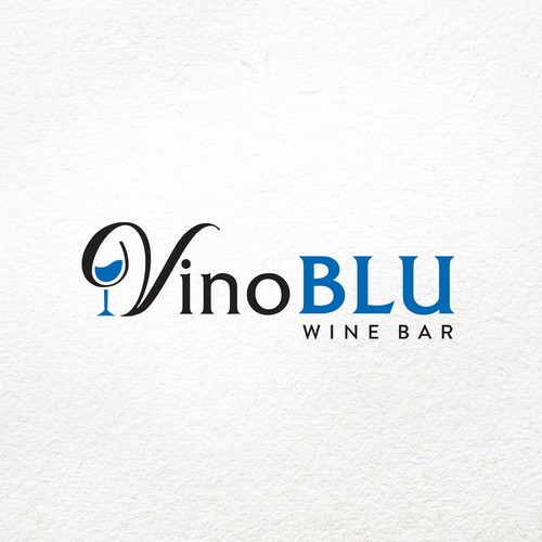 Elegant logo for a wine bar