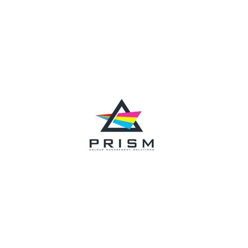 CMYK logo design concept for printing company.